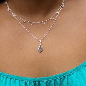 Moonstone Droplet Necklace in Sterling Silver