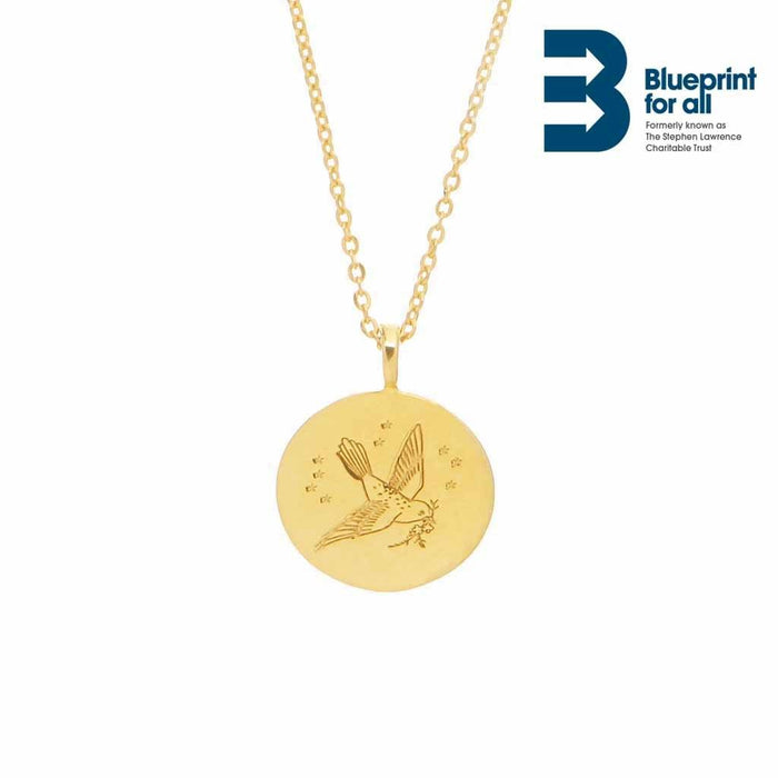"14k Gold Plated ""A change is gonna come"" Coin Necklace"