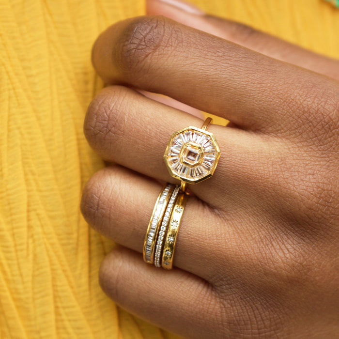 Solstice Statement Ring in Gold Vermeil