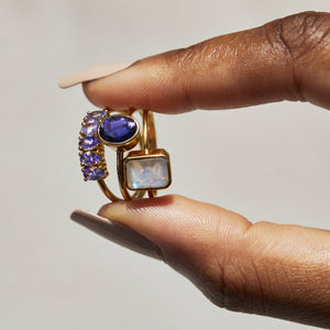 14k Gold Vermeil Galaxy Ring in Tanzanite