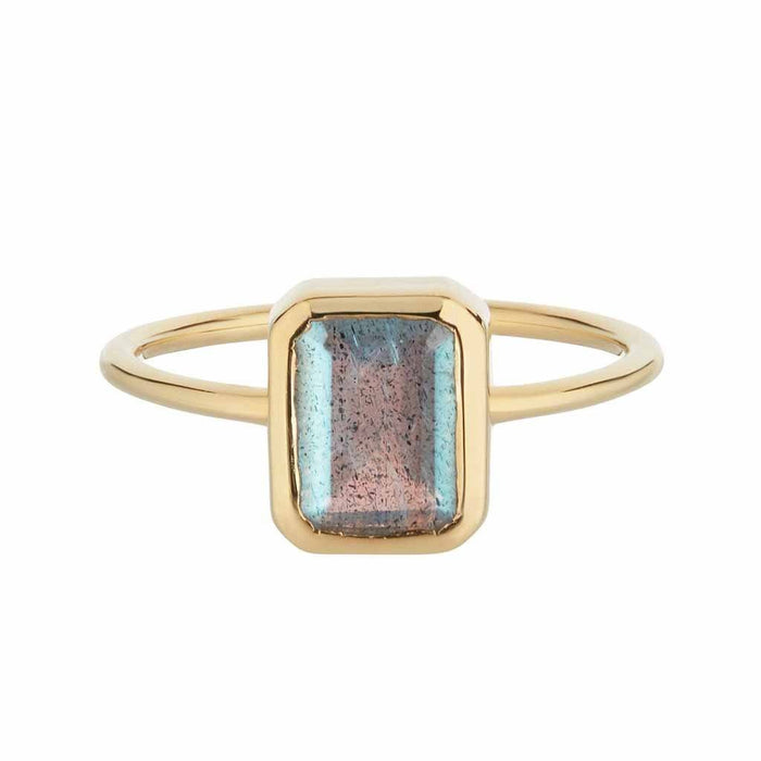 14k Gold Vermeil Supernova Ring in Labradorite