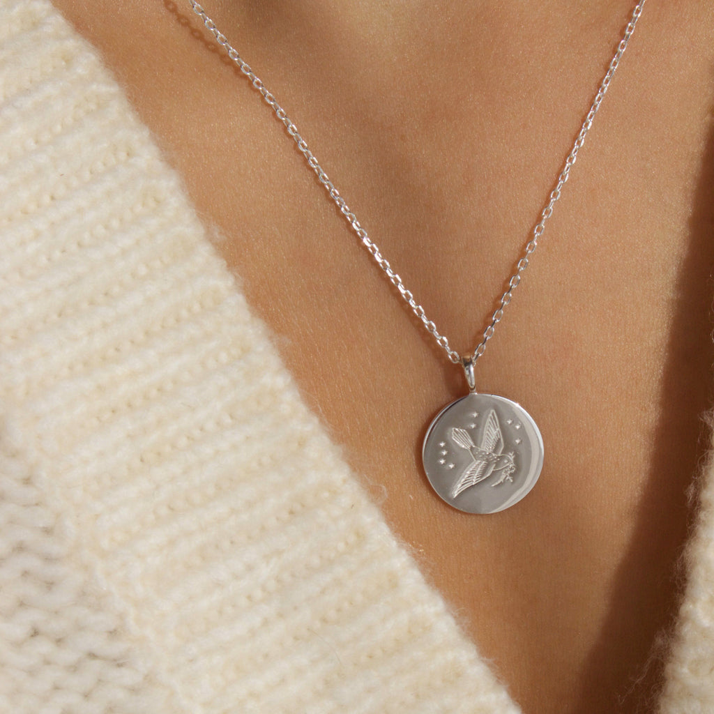 Sterling Silver A Change is Gonna Come Coin Necklace - NOT TO LAUNCH YET Necklace Pink City