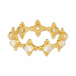 14k Gold Vermeil Carrie Elizabeth x You Moonstone Orb Band
