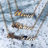 9k Solid Gold Name Plate Necklace - Carrie Elizabeth