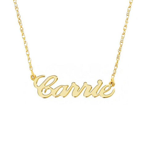 9k Solid Gold Name Necklace
