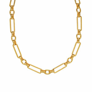 Chunky Link Chain in Gold Plated Brass