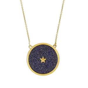 14k Gold Vermeil Night Sky Pendant in Sandstone