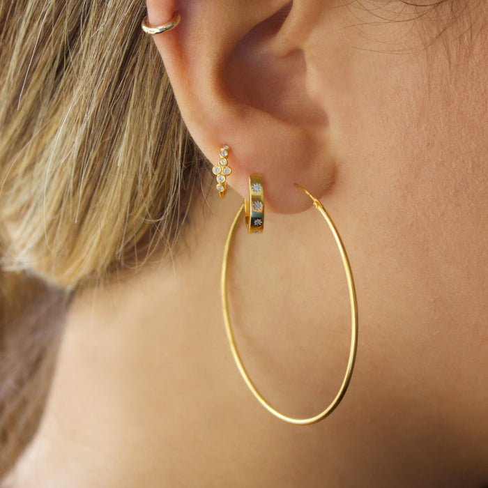 14k Gold Vermeil Large Hoop Earrings