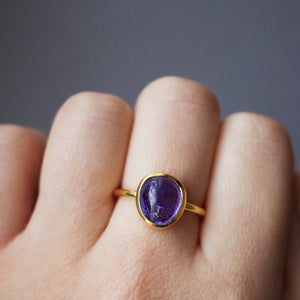 14k Gold Vermeil Sweetie Ring In Tanzanite