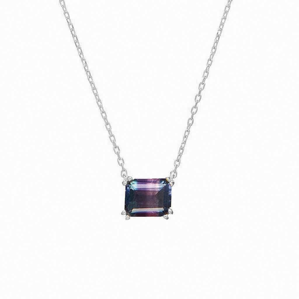 Sterling Silver Fluorite Necklace Necklace Pink City
