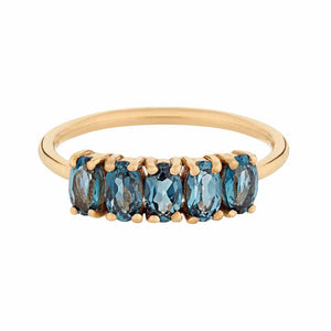 London Blue Topaz Galaxy Ring in Gold Vermeil