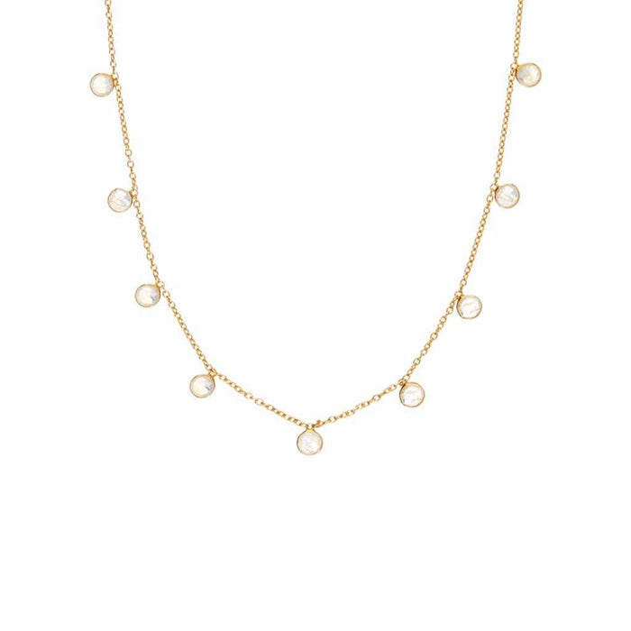 Moonstone Droplet Necklace in Gold Vermeil