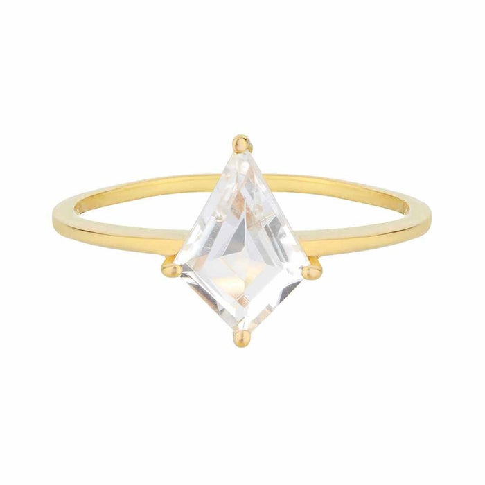 Faceted Kite Ring in Gold Vermeil