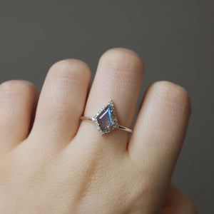 Labradorite & Diamond Kite Ring in Sterling Silver