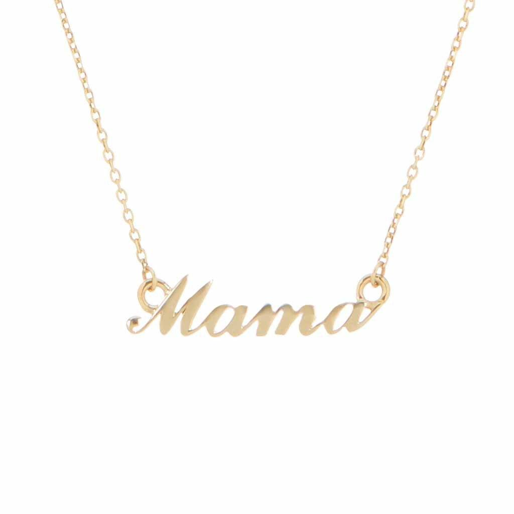 9K Solid Gold Mama Necklace Necklace Dwarkas