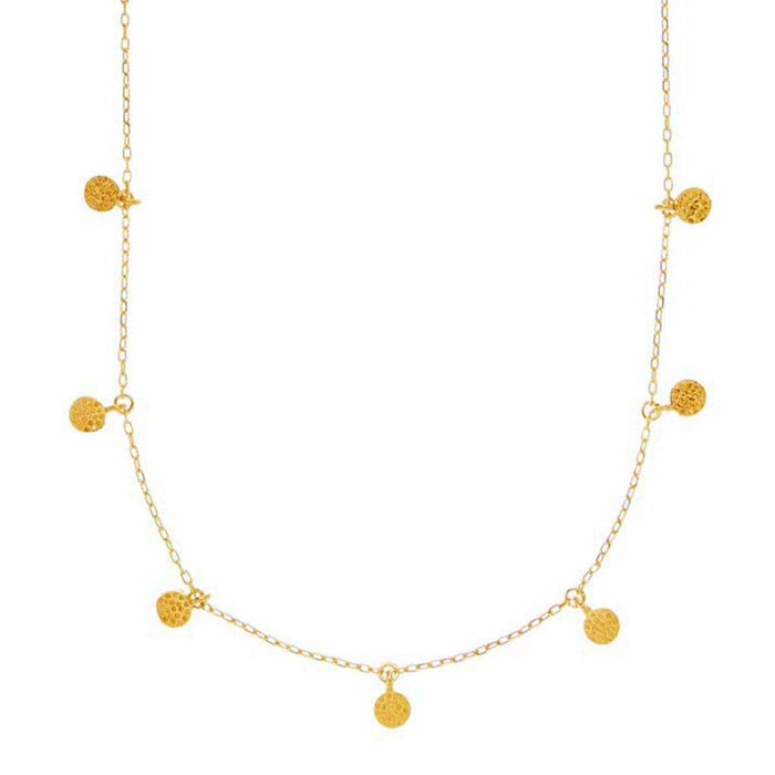 14k Gold Vermeil Mini Hanging Coin Pendant Necklace