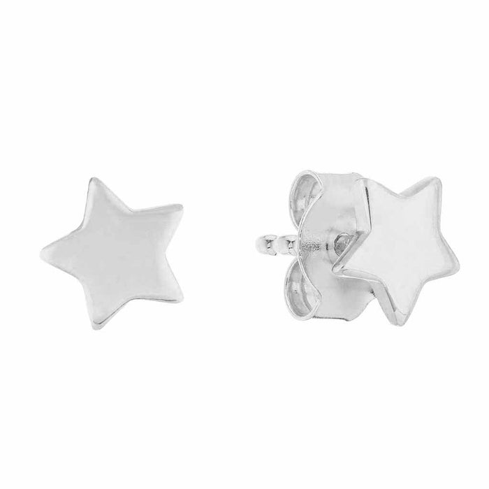 Sterling Silver Mini Star Stud Earrings