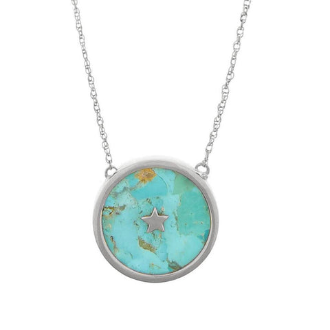 Sterling Silver Night Sky Pendant in Turquoise