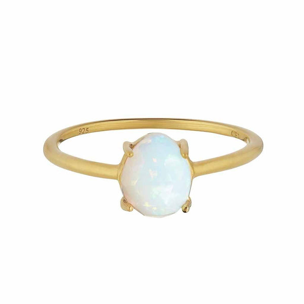 14k Gold Vermeil Faceted Opal Ring
