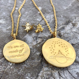 14k Gold Plated Stargazing Small Coin Necklace Necklace Pink City