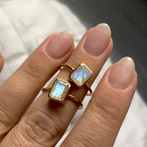 14k Gold Vermeil Moonstone Supernova Ring