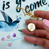 "Sterling Silver ""A Change is Gonna Come"" Coin Necklace Necklace Pink City"