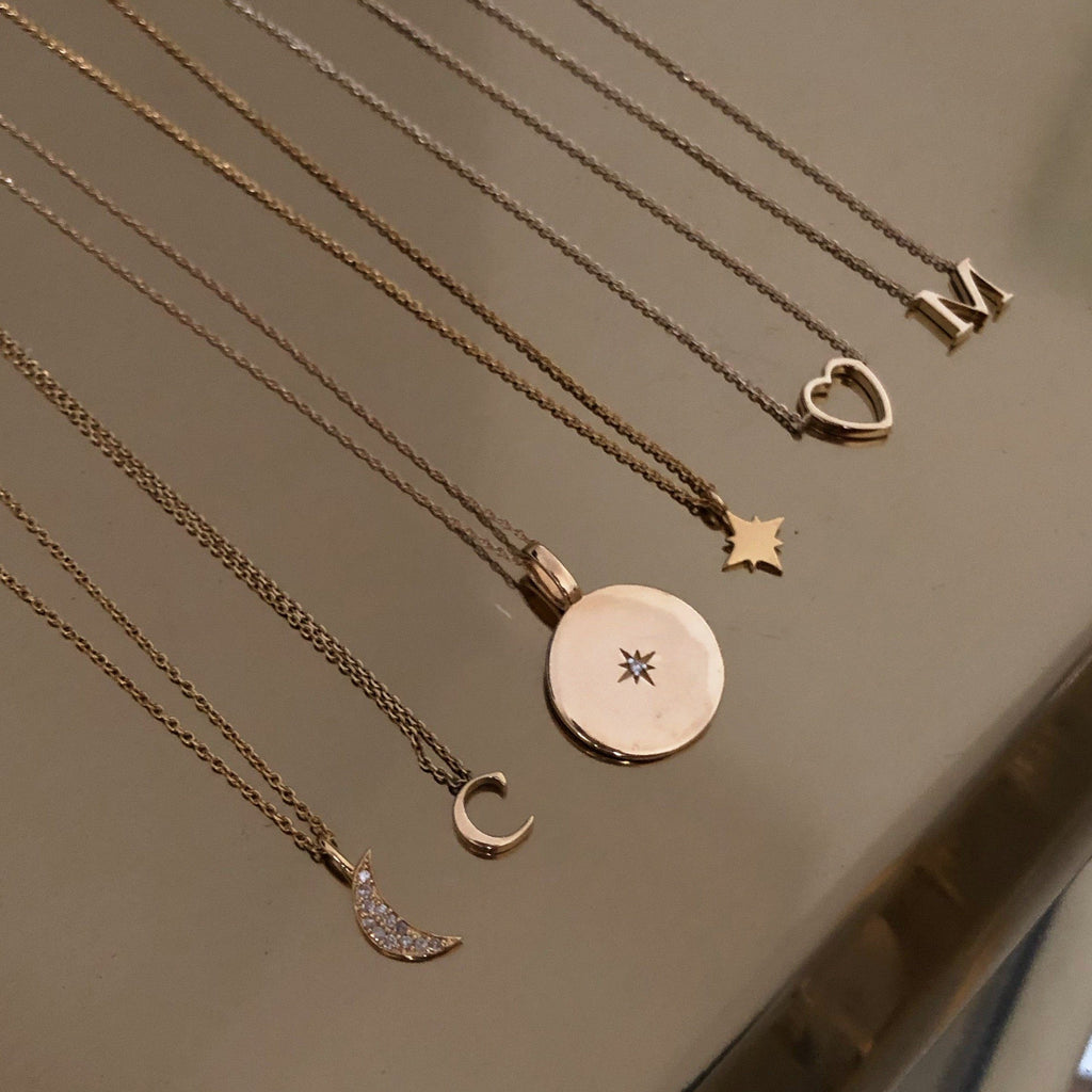 9K Solid Gold Heart Necklace Necklace Pink City