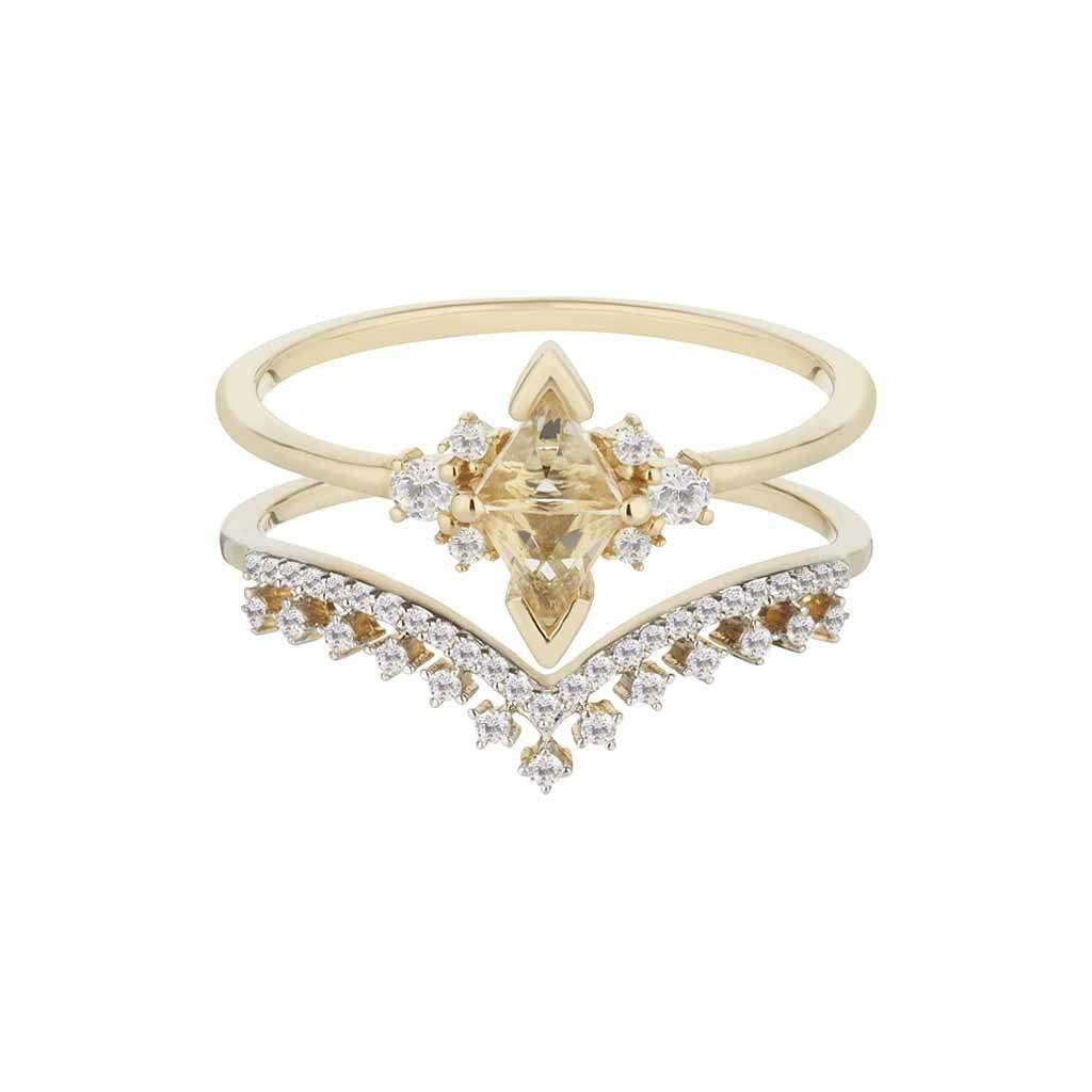 Tiara Diamond Band In 14k Solid Gold