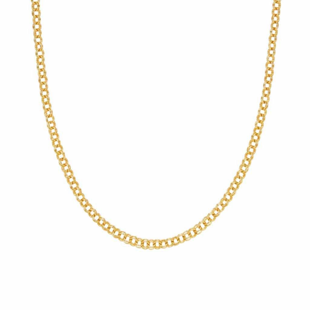 Rolo chain in Gold Plated Brass