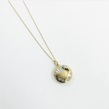 14k Gold Vermeil Shooting Star Diamond Locket - Carrie Elizabeth