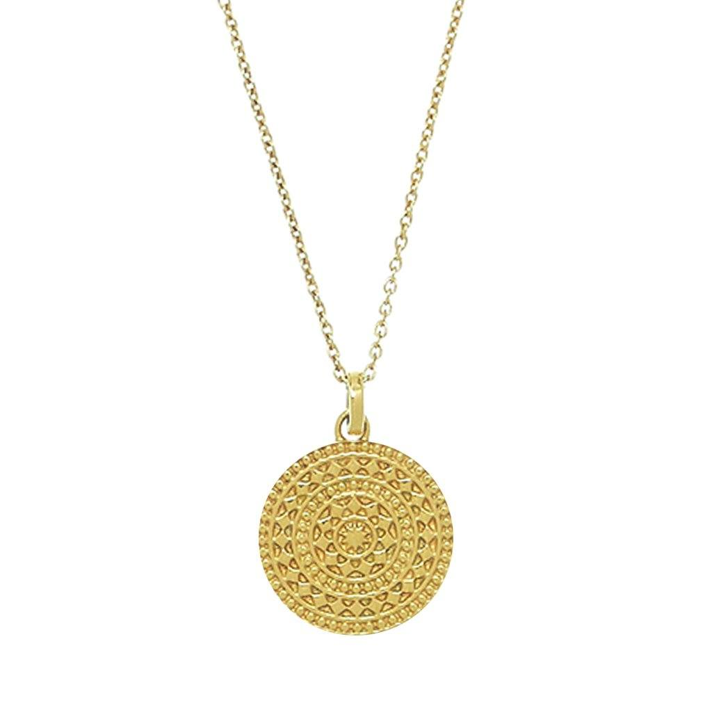 14k gold vermeil small aztec pendant carrie elizabeth 14k gold vermeil small aztec pendant mozeypictures Gallery