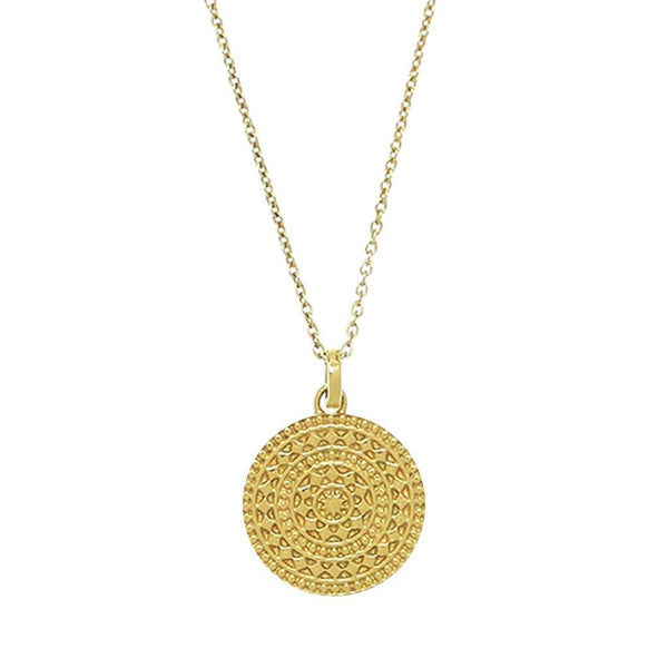 14k Gold Vermeil Small Aztec Pendant Necklace Malya