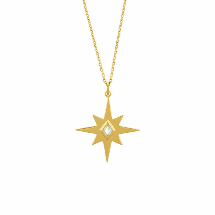 Venus Star Necklace in Gold Vermeil