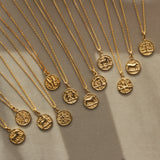 14k Gold Vermeil Horoscope Zodiac Pendant Necklace Necklace Malya