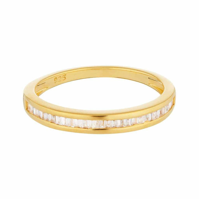 Baguette Cut Diamond Band In 14k Solid Gold