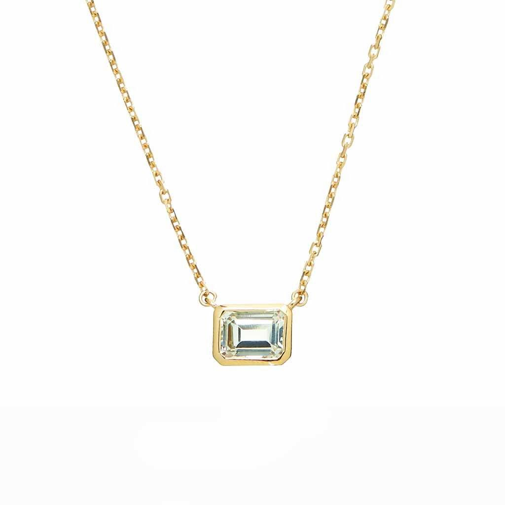 14k Gold Vermeil Supernova White Topaz Necklace Necklace Dwarkas
