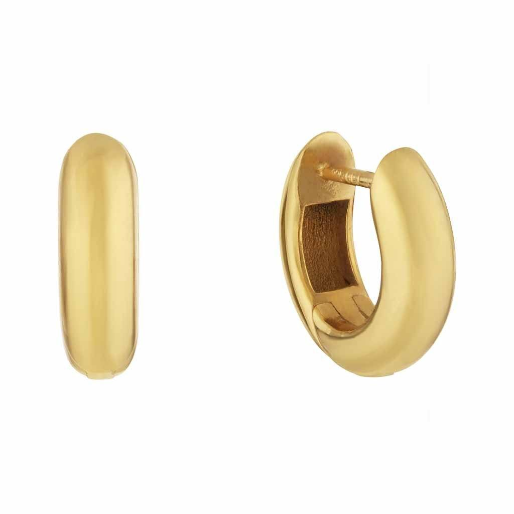 14k Gold Vermeil Mini Chunky Hoop Earrings Earrings Dwarkas 14k Gold Vermeil PAIR