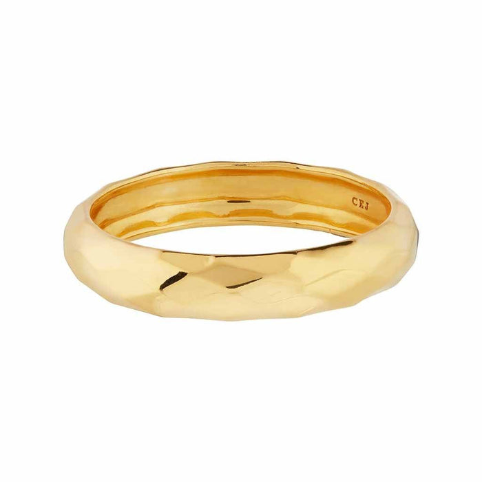 14k Gold Vermeil Faceted Band