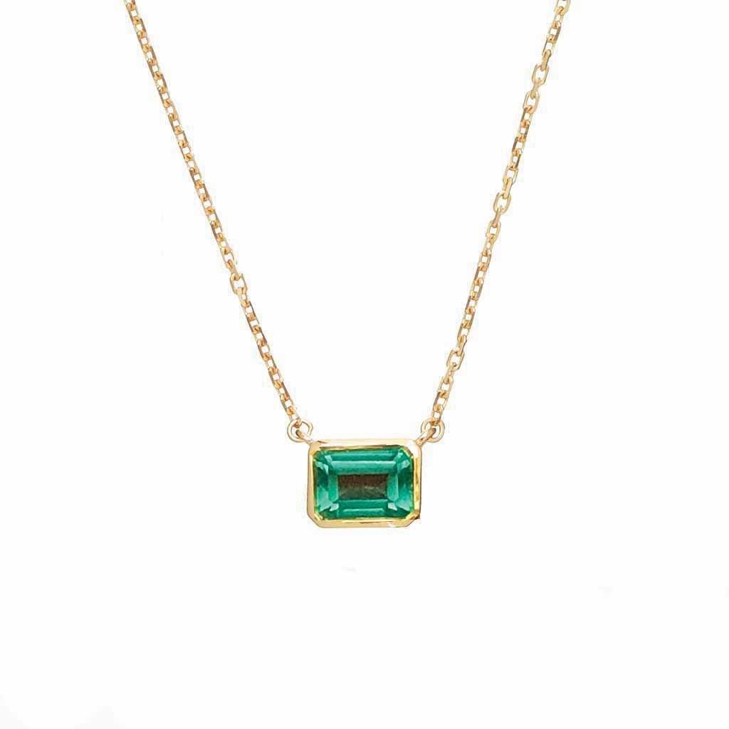 14k Gold Vermeil Supernova Fern Green Topaz Necklace - AVAILABLE TO PURCHASE 23RD SEPTEMBER Necklace Pink City