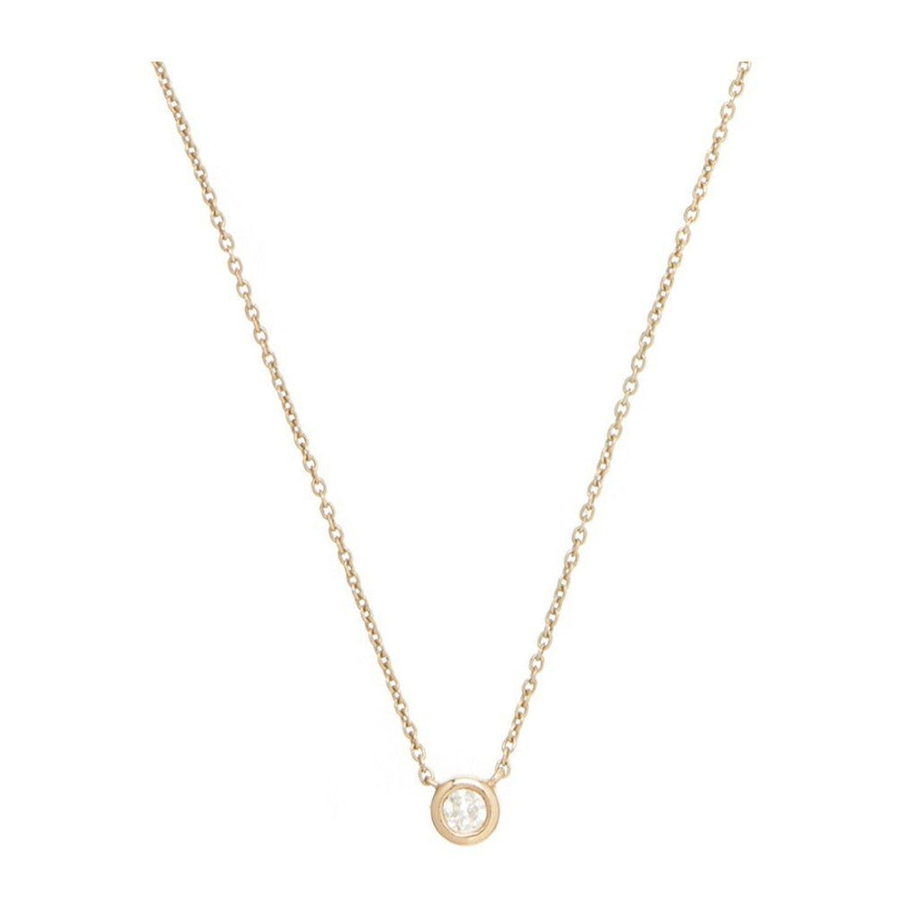 Diamond Solitaire Necklace In 9K Solid Yellow Gold
