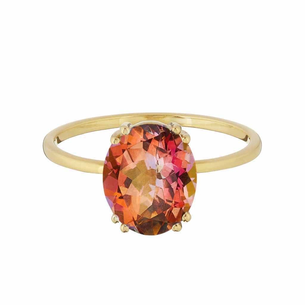 14k Gold Vermeil Exotic Topaz Ring Ring uv overseas