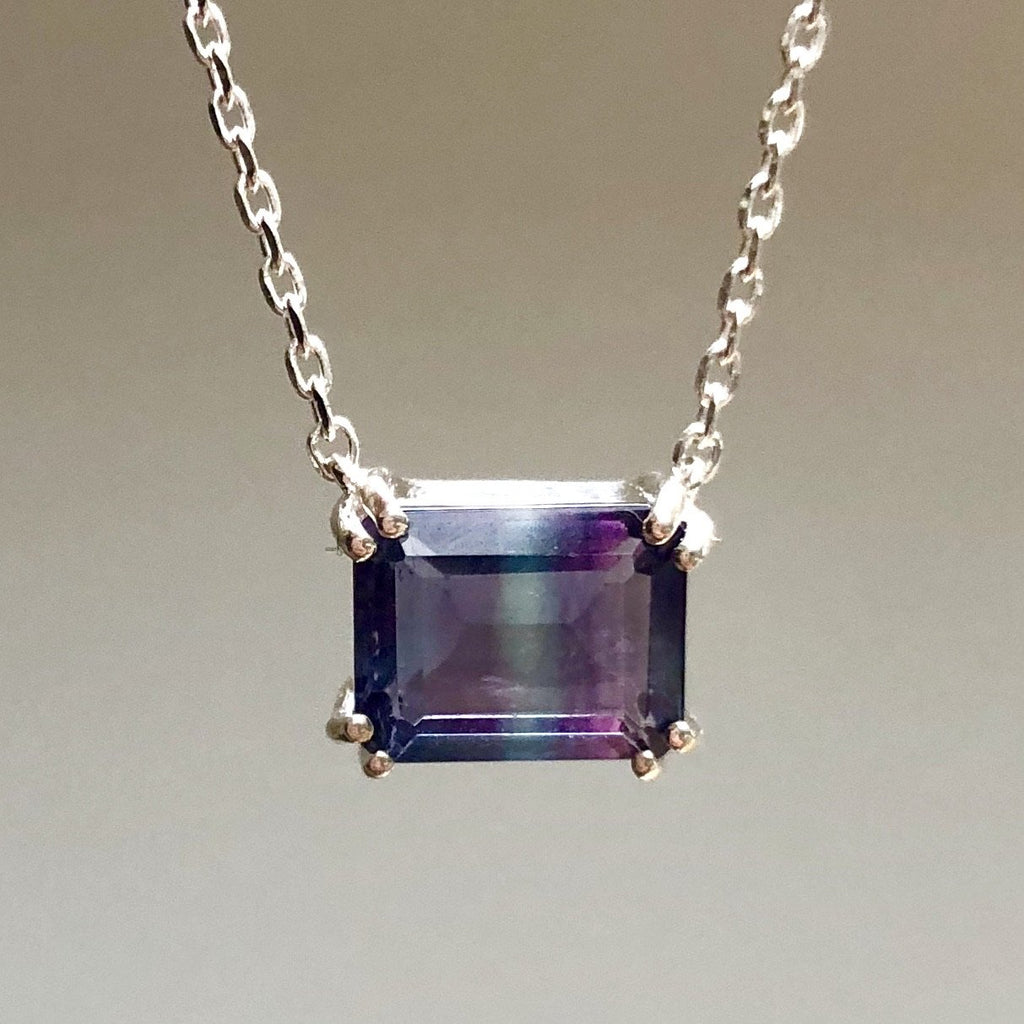 Sterling Silver Fluorite Necklace - AVAILABLE TO PURCHASE 4TH SEPTEMBER Necklace Pink City