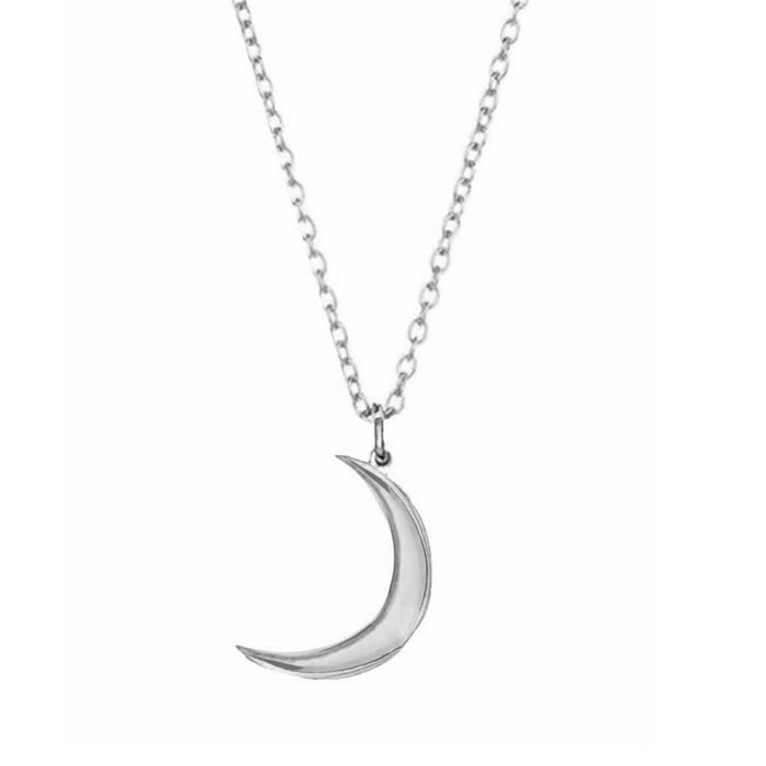 Sterling Silver New Moon Pendant
