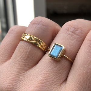 14k Gold Vermeil Supernova Ring in Labradorite Ring Dwarkas