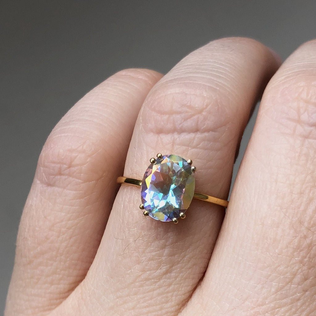 14k Gold Vermeil Mercury Mystic Topaz Ring Ring Pink City