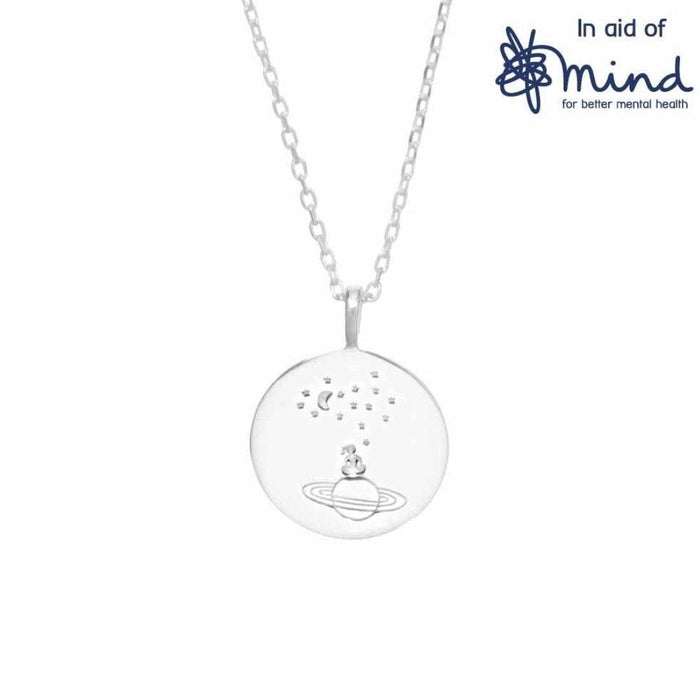 Sterling Silver Stargazing Round Coin Necklace