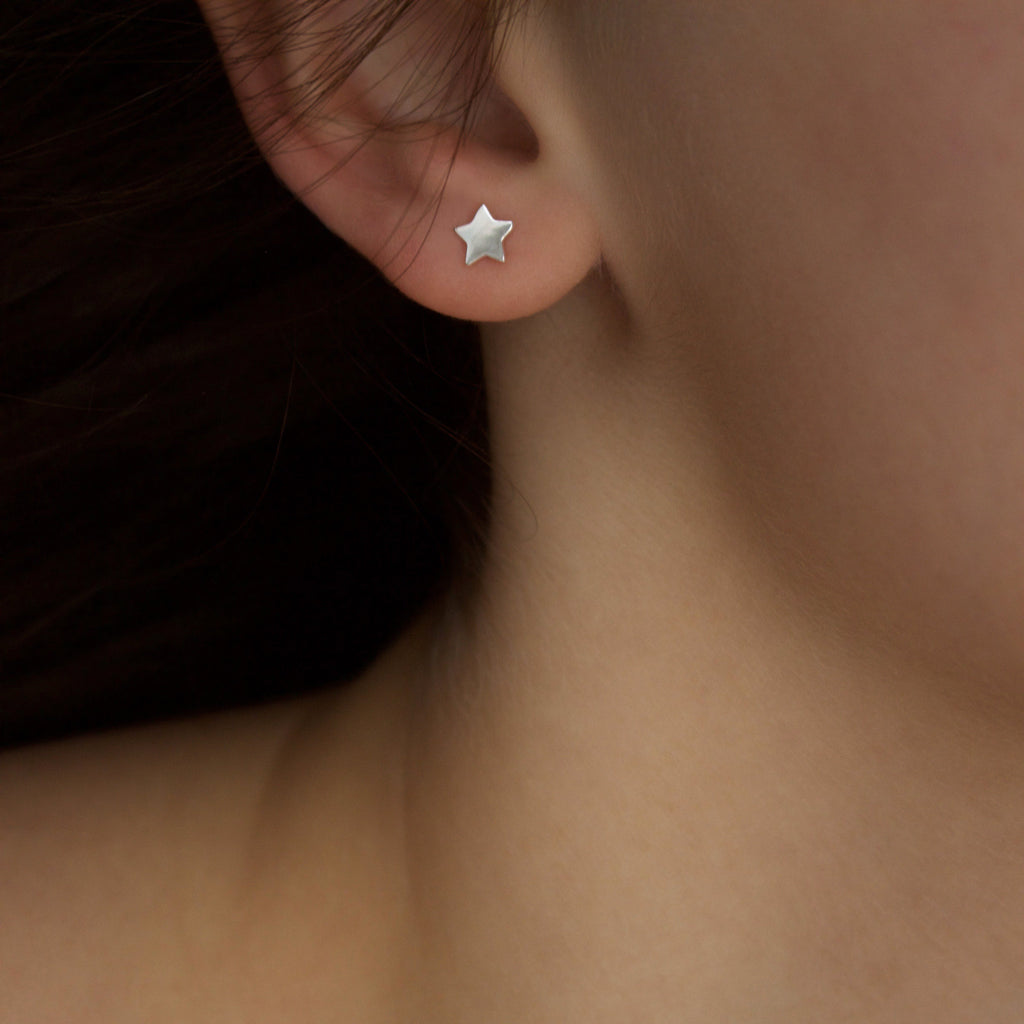 Sterling Silver Mini Star Stud Earrings Earrings uv overseas
