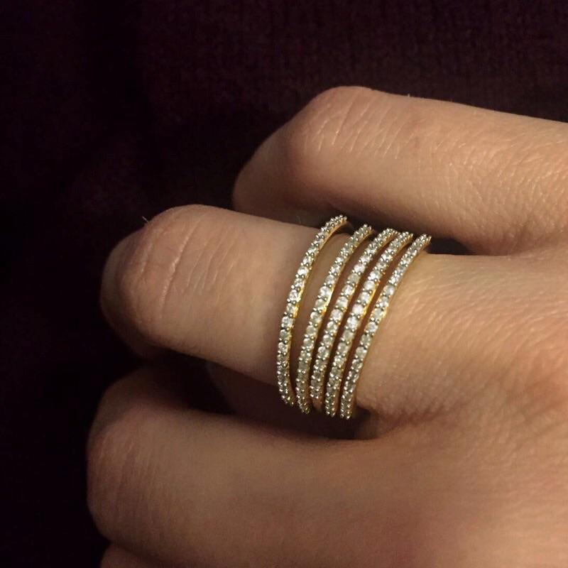 14k Gold Vermeil Diamond Pave Eternity Band Ring Pink City