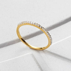 14k Solid Gold Diamond Pave Eternity Band 400.00 14k Solid Gold, Bands, Diamond, Meaningful, over-80, ring, Solid Gold, Wedding