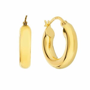 14k Gold Vermeil Small Luxe Chunky Hoop Earrings Earrings Dwarkas